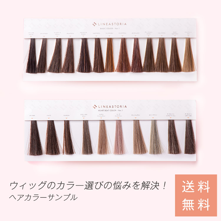Color Sample Hair Color Chart Wig Color Samples And 1 Yen ☆ フルウィッグ Half Wig  Bangs Wig Ponytail Bun Wig Of Course Use! LSRV