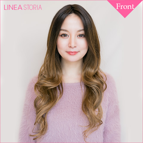 "Wig gradient ""Angel レースフロントビクトリアロングウェイブ"" or wigs hand wig medical wig women hair wedding long wig heat resistant wigs LSRV_P"