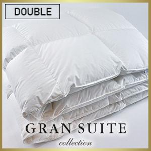 ホワイトグース 羽毛本掛け(ダブルサイズ)【GRAN SUITE COLLECTION】(冬用)