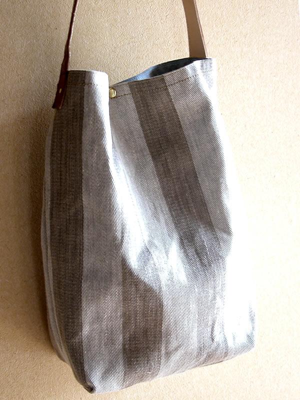 リネン ワンハンドル バッグ 麻 日本製 高級