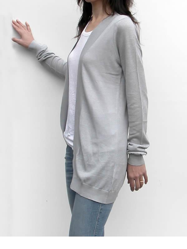 【クーポン発行中】 リネン ニット カーディガン Fine Collection 麻 フランス