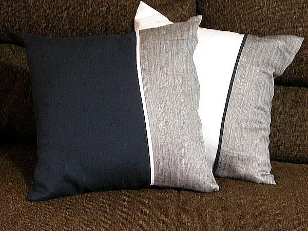 リネン クッションカバーLarch トリミング (45x45cm) 日本製 カラー 高級 麻 イタリア リニフィッチオ 紡績糸使用