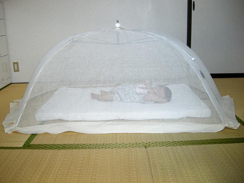【送料無料】蚊帳 ワンタッチ ベビー 本麻 赤ちゃん 日本製 かや モスキートネット 虫よけ 虫除け 害虫防止 安眠 快眠 カヤ