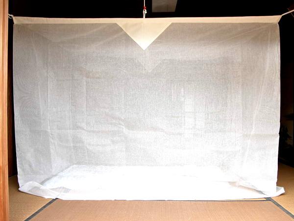 把6张榻榻米蚊帐挂起来,暴晒单一亚麻(白)(2.5mx3m)日本制造以及登革热蚊子网络大人杀虫剂杀虫剂害虫防止安眠熟睡kayaeko 10P03Dec16