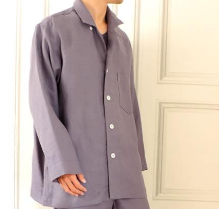 【送料無料】CLASSITE リネン パジャマ メンズ シャツカラー 日本製 カラー 高級 麻 イタリア リニフィッチオ 紡績糸使用