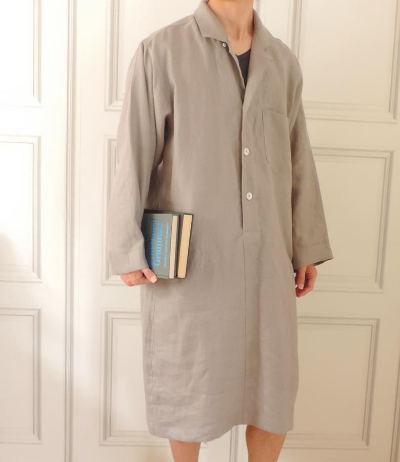 【送料無料】CLASSITE リネン スリーパー パジャマ メンズ ワンピース型 日本製 カラー 高級 麻 イタリア リニフィッチオ 紡績糸使用 速乾 吸汗性