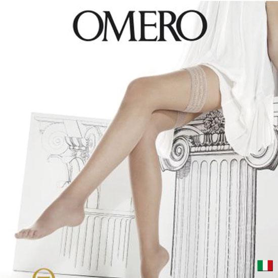 ガーターストッキング/インポート・イタリア製・ナチュラル美脚になる!軽い履き心地のガーターシアータイツ OMERO オメロ AESTIVA8 autoreggenteライクラreg;ファイバー/イタリア製オールシーズン/つま先スルー/8デニールガーターストッキング