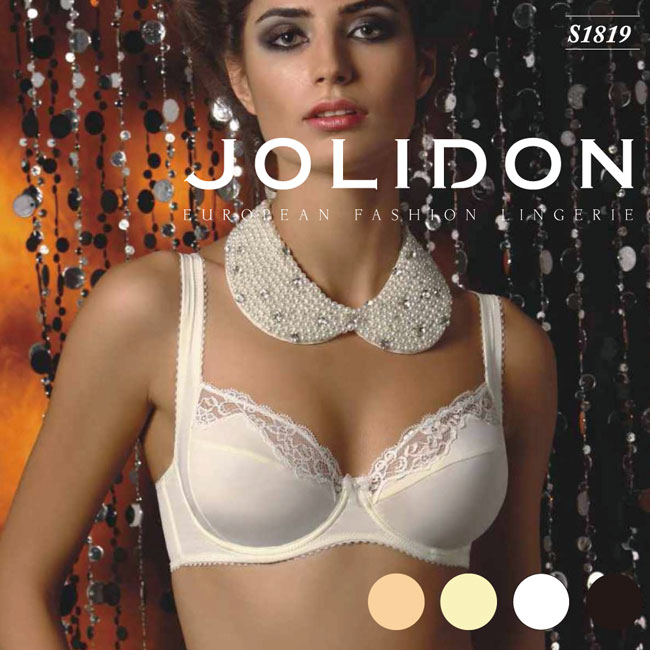 087592bd41695 Jolidon/ ジョリドン direct import Europe import lingerie 2WAY stretch race micro  fiber Tulle ribbon pearl ...