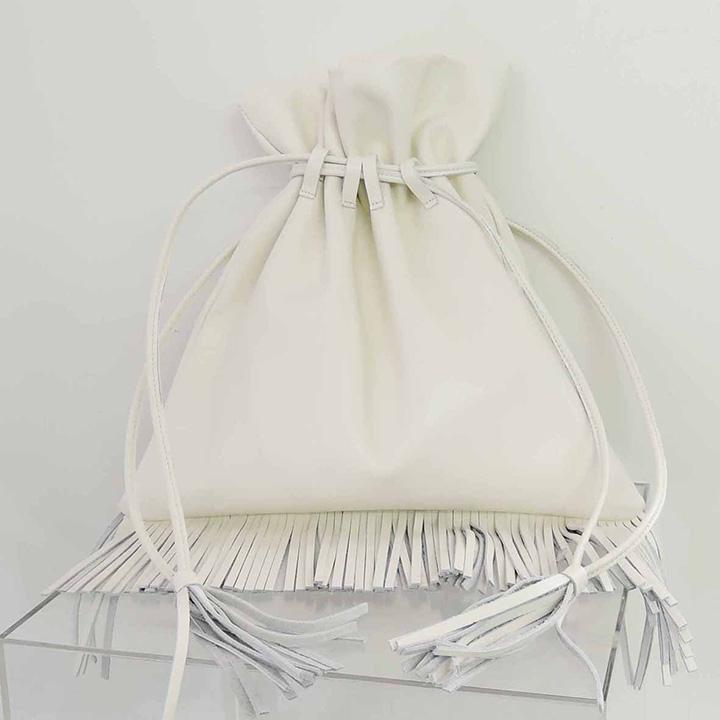 ADER.bijoux アデルビジュー FRIDA fringe bag RBG-602-8A-WT{-AHA}