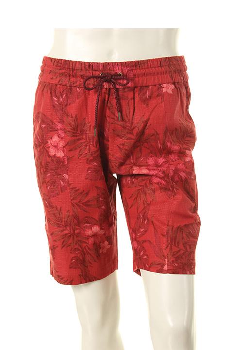 AKM エイケイエム ふるさと割 tropical お気にいる print easy shorts{-AES} swing cotton-linen