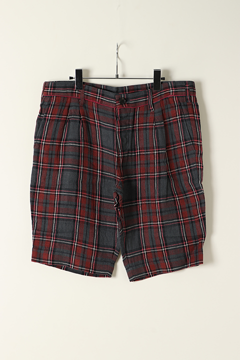 AKM エーケーエム WASHABLE ITALY LINEN collection wrinkle shorts (pants){-ACS}