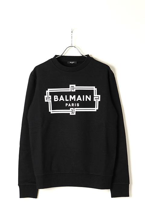 BALMAIN バルマン BH2 C&S SWEAT FRAME-LOGO{11JQ040G066-EAB-BAS}