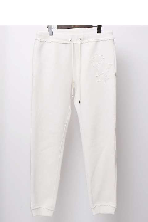 {※セール除外}daboro ダボロ 3 STAR sweat pants DPN044-WHT{-AHA}