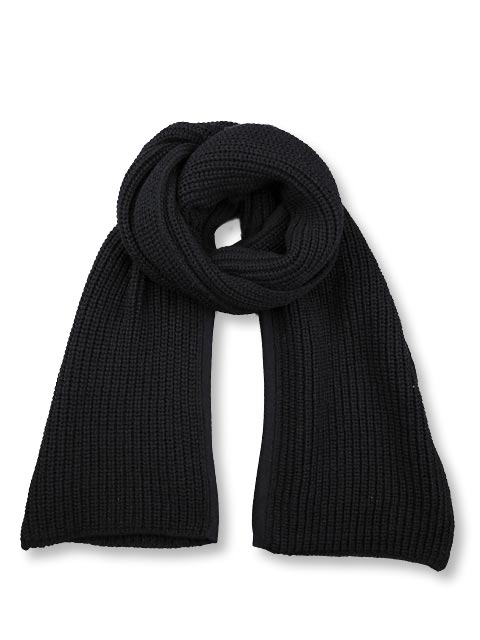KRIS VAN ASSCHE クリスヴァンアッシュ CHUNKY KNIT SCARF W/ SLIT{112KN0120-0125-999-}