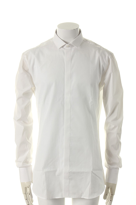 Neil Barrett ニールバレット CUT-AWAY COLLAR CLASSIC SHIRT{PBCM347C-A042C-0003-AFS}