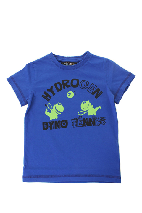 ★KIDS/BABY★ HYDROGEN KIDS ハイドロゲン キッズ T-SHIRT DYNO TENNIS S/S{212-80141001-510-AES}