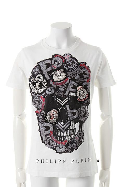 PHILIPP PLEIN HOMME フィリッププレインオム t-shirt 「electric」{-AES}