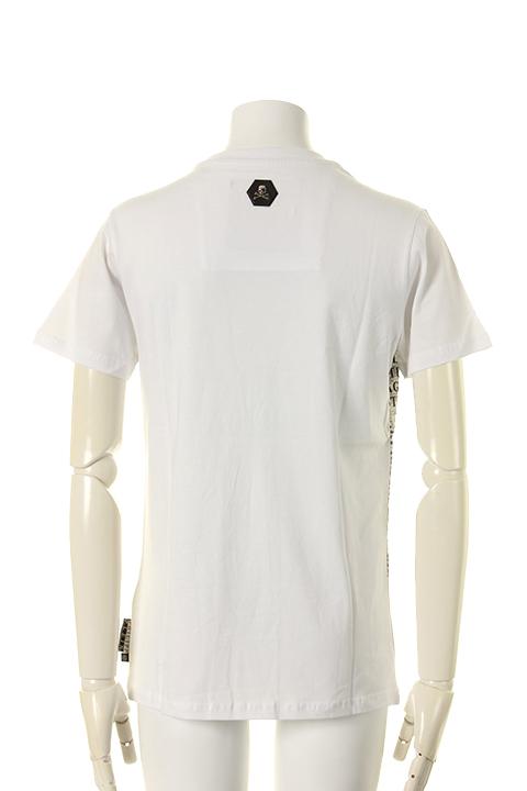 "【20%OFFセール|135,000円→108,000円】 PHILIPP PLEIN HOMME フィリッププレインオム T-Shirt Round neck SS ""Use""{-AGA}"