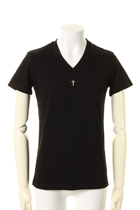 35%OFF underbar アンダーバー Limited V-Neck S 買収 Silver with Stones{-AGS} Cross