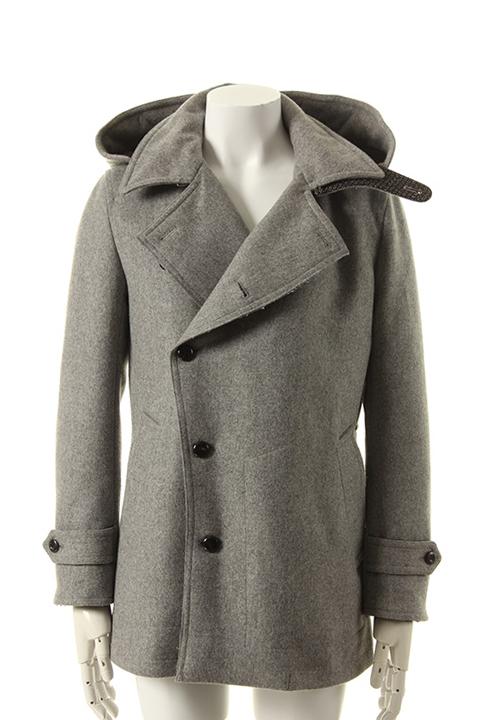 50%OFFセール 84 700円→42 直送商品 350円 VADEL バデル vintage 絶品 coat{-AEA} melton cashmere pea hooded