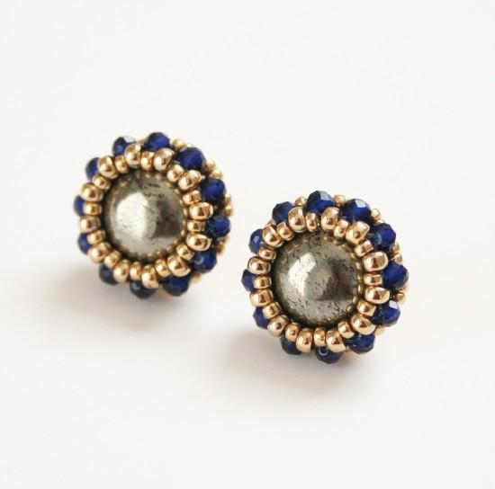 Framing Pierced Earrings Stud Bolt Anium Post Handmade Jewelry Natural Stone