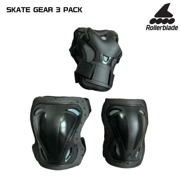 セール 数量限定 ローラーブレードパットセット ROLLERBLADE ローラーブレード インラインパットセット SKATE 3パック 人気上昇中 安心と信頼 スケートギア 069P0100-100 PACK GEAR 3