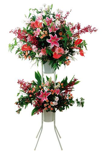 スタンドダブルB開店祝いフラワー 送料無料 開店祝い 開店祝い花 フラワー開店祝い 開店祝い 開業祝い 生花開店祝い 誕生日 記念日