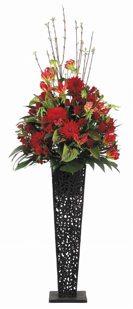 スタンドバスケットアイアン開店祝いフラワー 送料無料 開店祝い 開店祝い花 フラワー開店祝い 開店祝い 開業祝い 生花開店祝い 誕生日 記念日