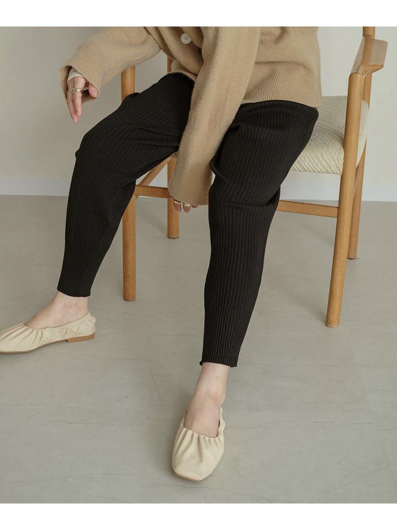 注目ブランド Bou Jeloud レディース パンツ ジーンズ 価格 ブージュルード WEB限定 スウェットパンツ ブラック リブニットジョガーパンツ Fashion ベージュ Rakuten ホワイト