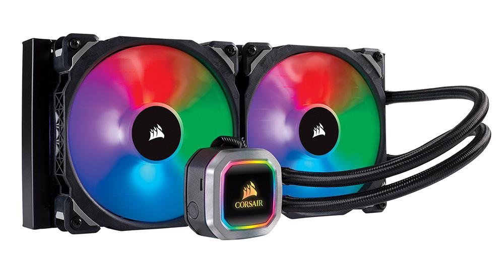 CORSAIR アドレッサブルRGB搭載 280mmサイズの水冷一体型ユニット H115i RGB PLATINUM (CW-9060038-WW)