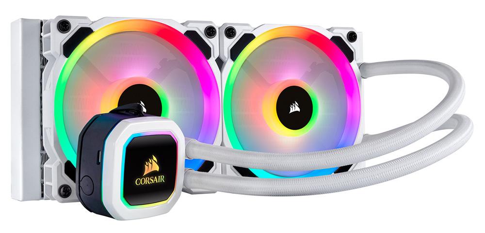 CORSAIR アドレッサブルRGB LEDを48個搭載した水冷一体型ユニット H100i RGB PLATINUM SE (CW-9060042-WW) ラジエータサイズ240mm ホワイト