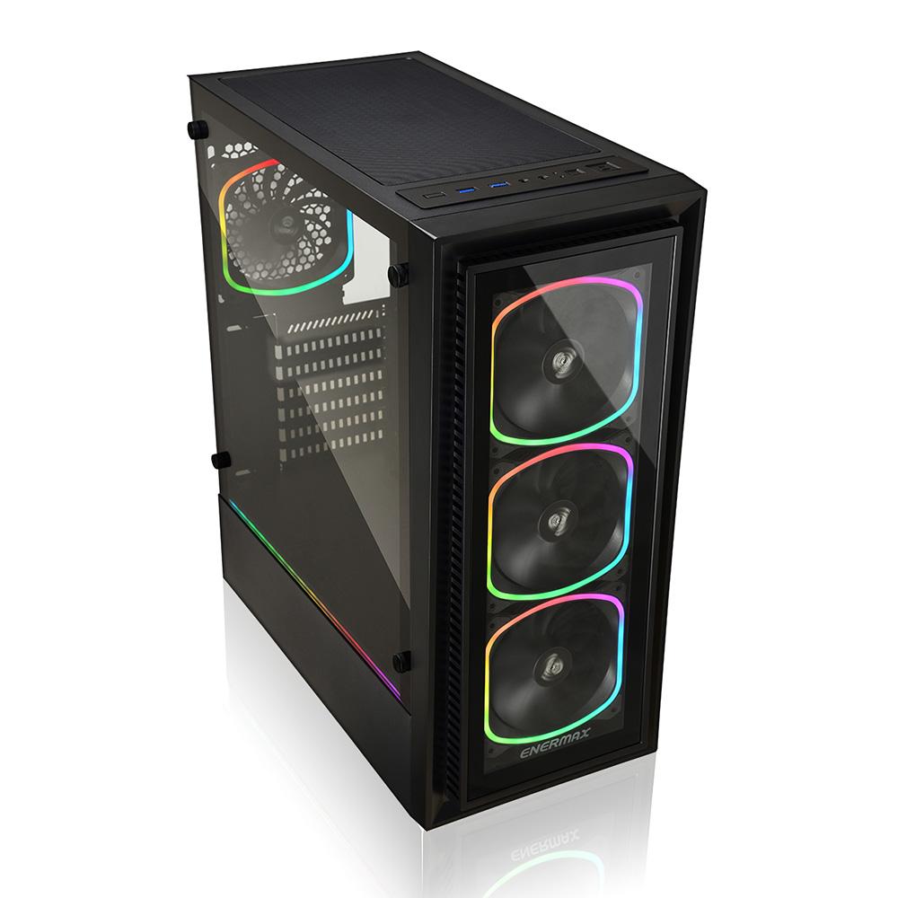 ENERMAX アドレッサブルRGB LED Sync対応ATXゲーミングPCケース ECA-SF30-M1BB-ARGB / StarryFort SF30