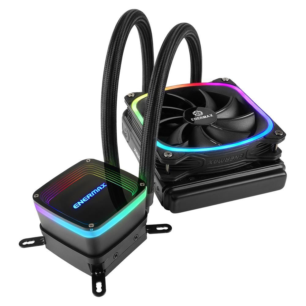 ENERMAX アドレッサブル型RGB LED搭載の水冷一体型ユニット AQUAFUSION / ELC-AQF120-SQA ラジエータサイズ120mm