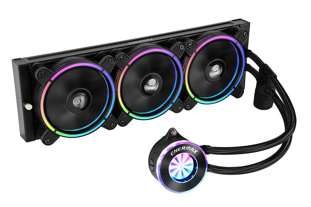 ENERMAX アドレッサブルRGB LED搭載の水冷一体型ユニット LIQFUSION / ELC-LF360-RGB ラジエータサイズ360mm