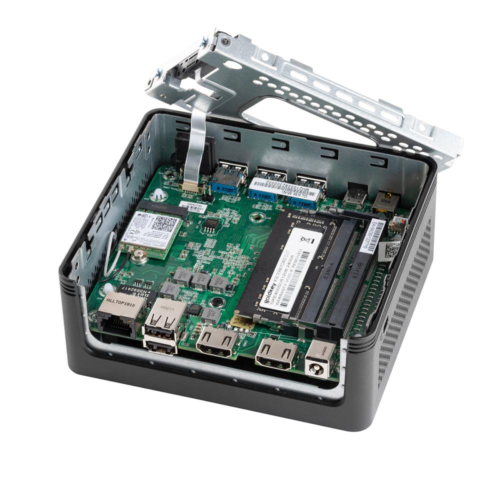 ECS Intel Gemini Lake搭載 小型デスクトップパソコン LIVAZ2-4/32-W10Pro(N4100) メモリ4GB ストレージ32GB