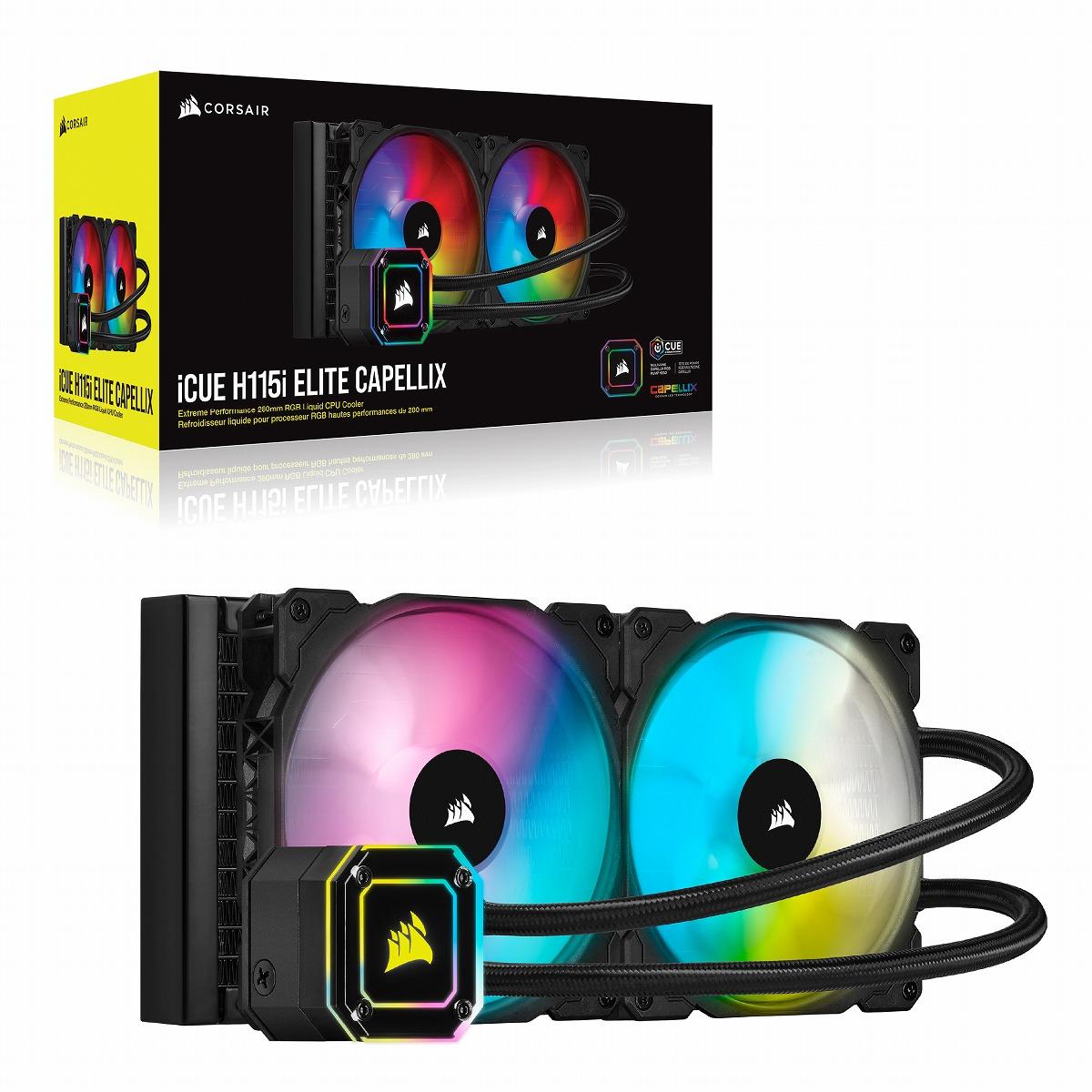 3980円以上送料無料 CORSAIR 超高輝度CAPELLIX RGB LED搭載 280mmサイズの水冷ユニット ELITE ラジエータサイズ280mm H115i CW-9060047-WW CAPELLIX 新作からSALEアイテム等お得な商品 満載 信憑
