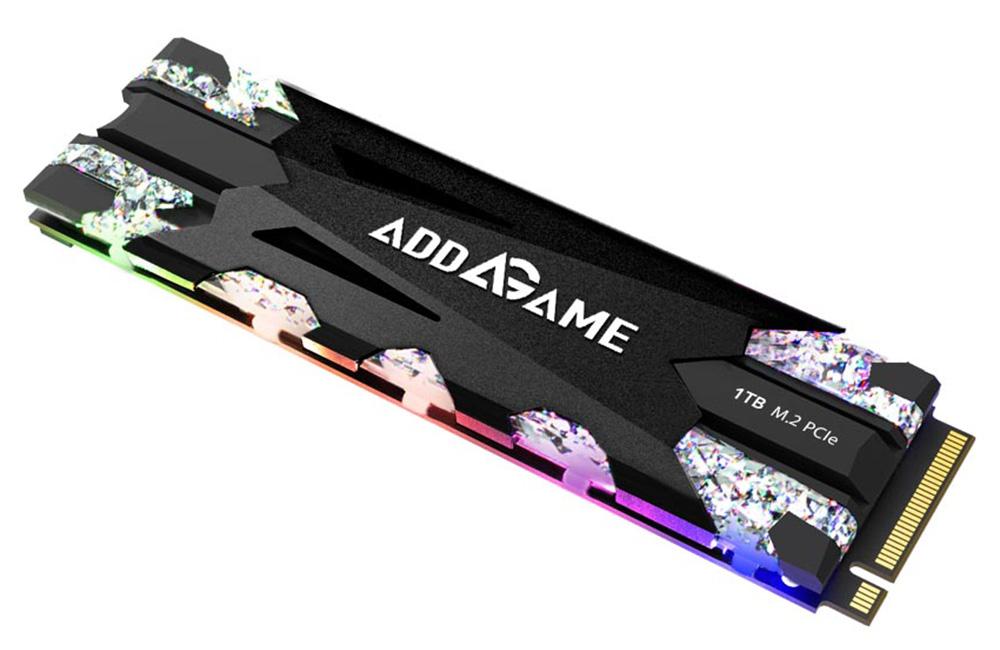 addlink NVMe規格PCI Express Gen3 x4対応 M.2 2280 SSD addlink X70 ad1TBX70M2P 容量1TB RGB LEDヒートシンク搭載