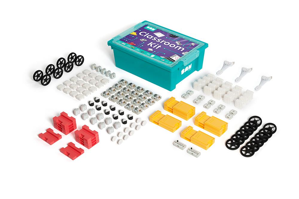 SAM Labs BluetoothでつながるブロックモジュールタイプのSTEM教材 SAM Classroom Kit 30名のグループを想定した学校向けのキット