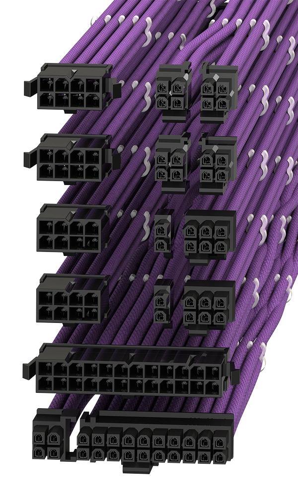 18AWGマルチカラーPSUケーブル延長コード パソコン電源 PSUケーブル 延長ケーブル オスコネクタ 30cm メスコネクタ 高級 5本セット ご注文で当日配送