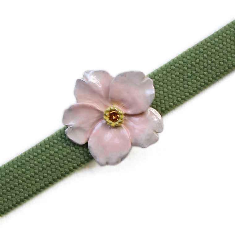 馴染み桜 高品質 帯留め:Palnart Poc SUU 市場 数 パルナートポック