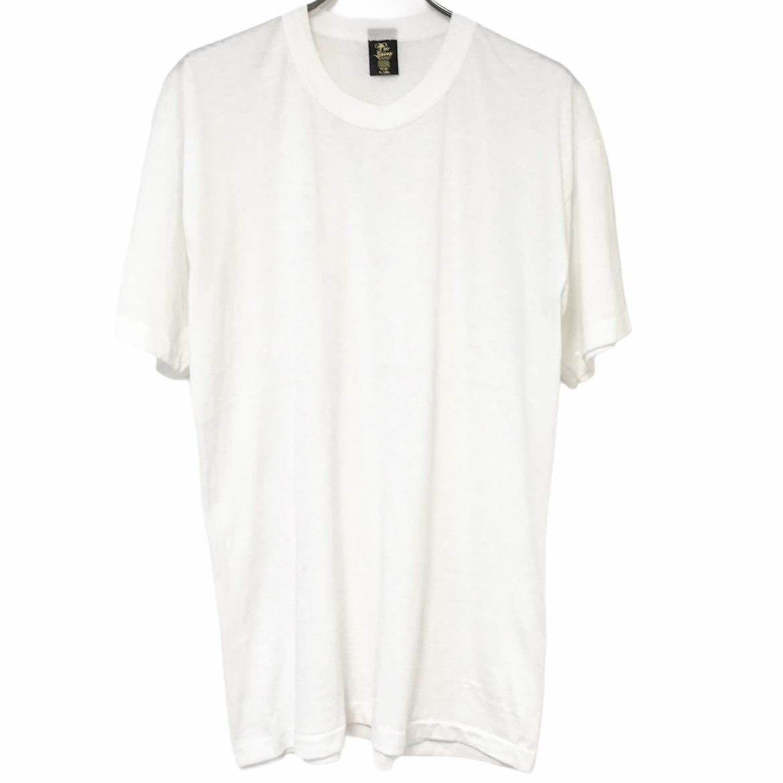 デッドストック デポー 80's Tee Swing 爆買い新作 ティースウィング ヴィンテージTシャツ 50 USA製 無地T ホワイト