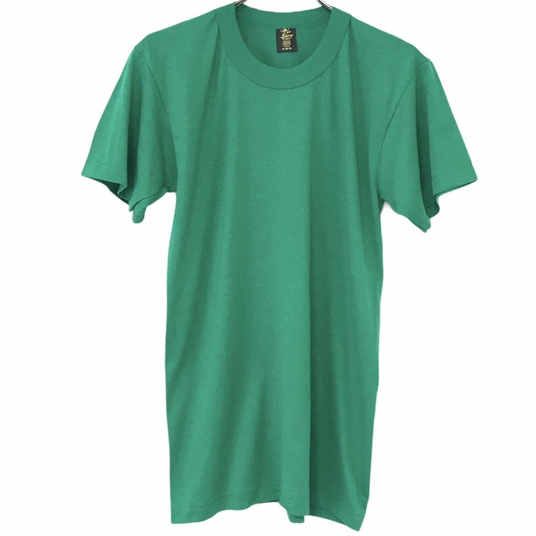 新作入荷!! デッドストック 80's Tee Swing ティースウィング ヴィンテージTシャツ ストアー グリーン USA製 無地T 50