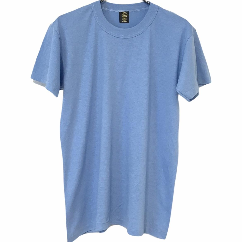 デッドストック 35%OFF 80's Tee [並行輸入品] Swing ティースウィング ヴィンテージTシャツ USA製 無地T ライトブルー 50