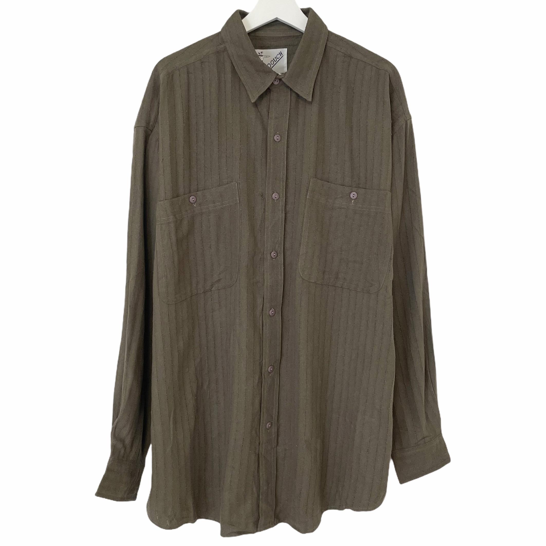 Dead Stock 海外 90's GOOUCH 店内全品対象 Silk Shirt カーキ シャツ グーチ シルク デッドストック KHAKI