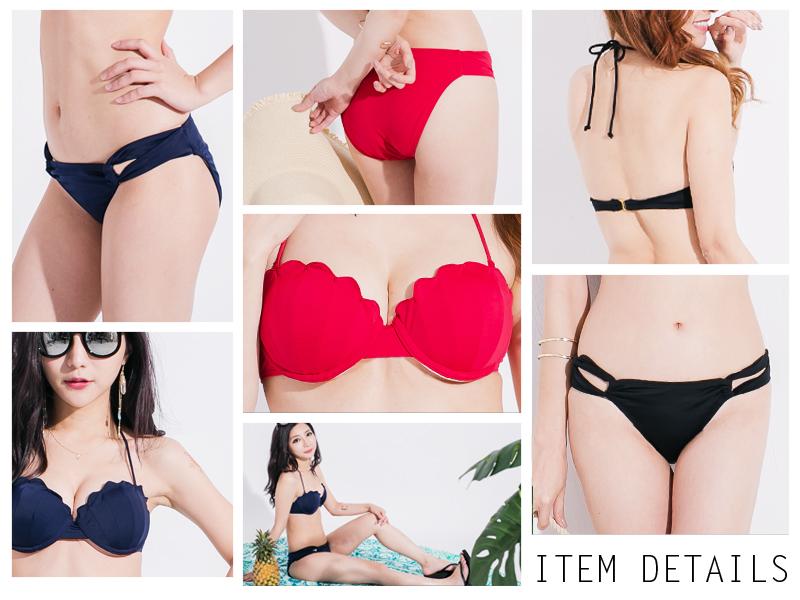 Swimwear bikini original Mermaid shell bikini shell wire bandeau Bandu SML 2 point set kalabari LIPCROWN lip Crown 2016 new trend ladies girls cute swimsuit ladies swimwear new bikini