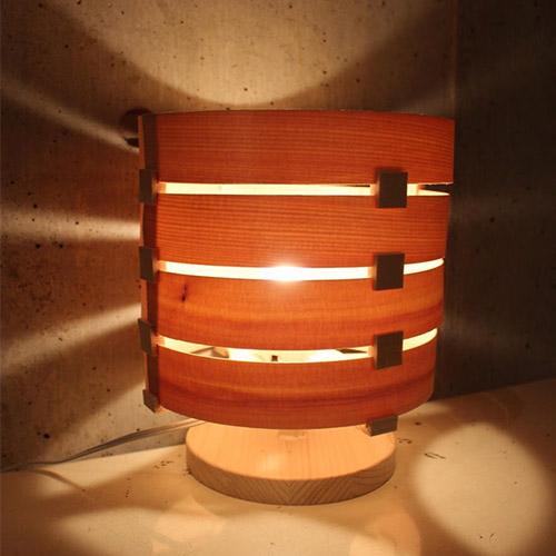 [300円OFFクーポン対象]Navy WOOD LAMP kit LOOP [ 自由研究 ランプシェード キット 木製照明 経木 プレゼント 工作 ネイビーウッドランプキット 通販 口コミ]