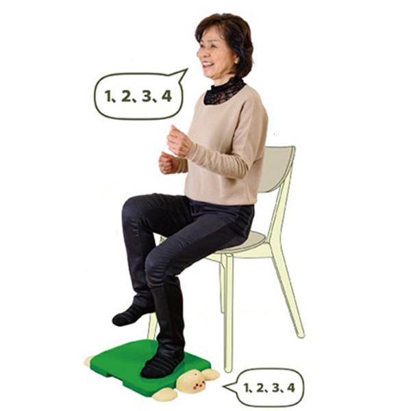 足踏み 運動 器具 脳トレ 有酸素運動 高齢者 介護 トレーニング 足 自宅 室内 いっしょに脳トレ足踏みかめさん