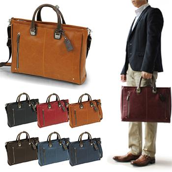 [バジェックス トレジャー](カラー:ブラック/レッド/オレンジ/ママレード/ダークブラウン/ネイビーブルー/ブルー/バーガンディ)(ビジネスバッグ メンズ 収納可能 メンズ バッグ 大学生 バッグ・鞄)