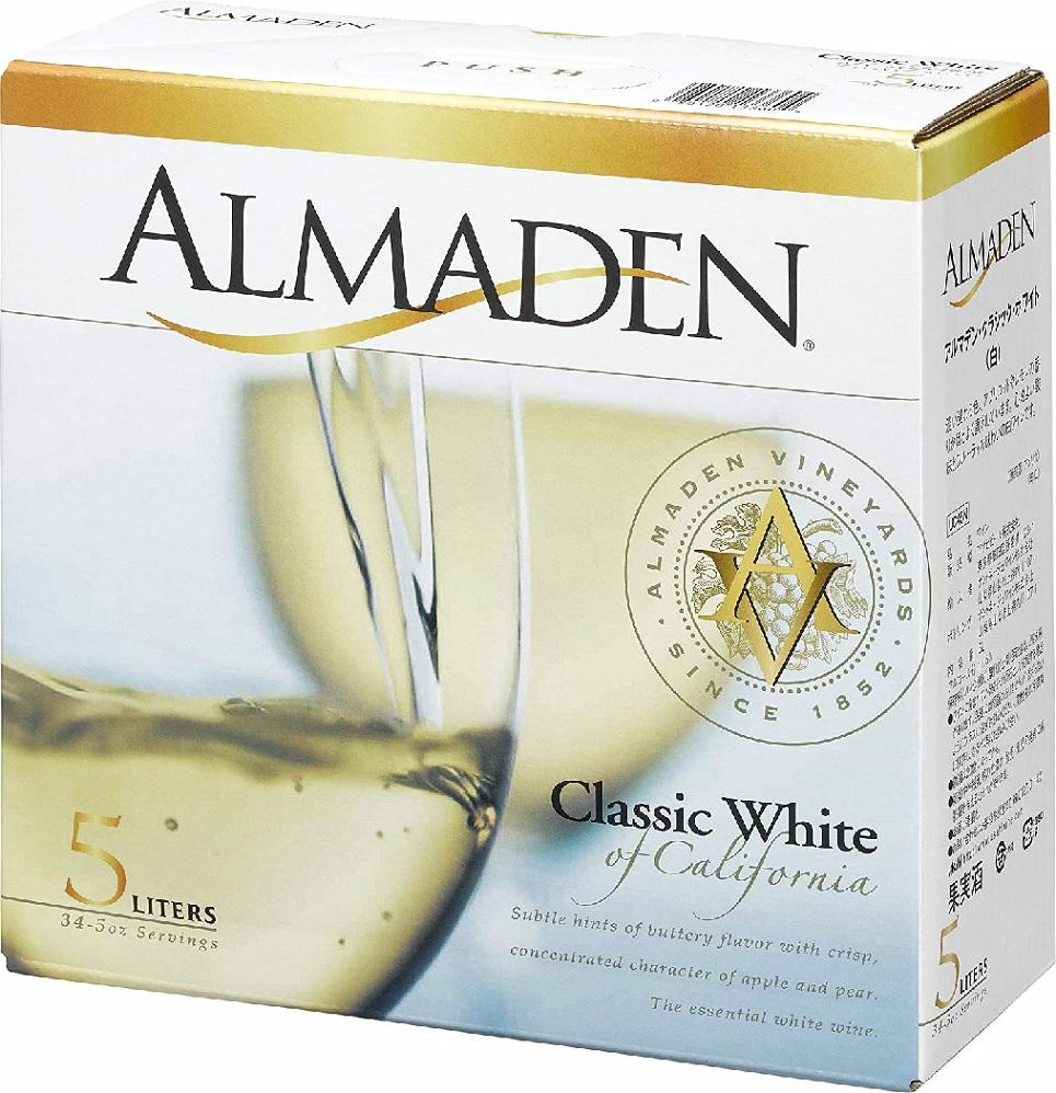 【送料無料】箱ワインアサヒ アルマデン・クラシック ホワイト 5L×4本【北海道・沖縄県・東北・四国・九州地方は必ず送料が掛かります】
