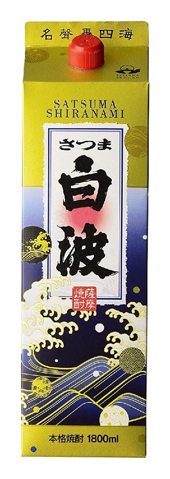 【送料無料】薩摩酒造 芋焼酎 さつま白波 25度 パック1800ml 1.8L×12本/2ケ―ス【北海道・沖縄県・東北・四国・九州地方は必ず送料が掛かります】